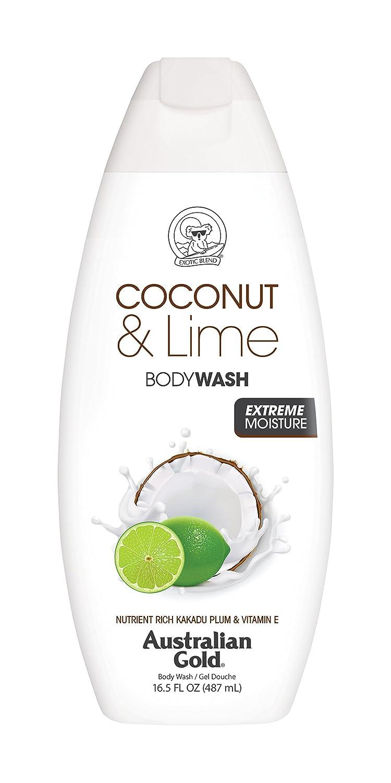 Australian Gold Body Wash, Gentle & Moisturizing with Nutrient Rich Kakadu Plum & Vitamin E, Coconut Lime, 16.5 Ounce (Pack of 6)