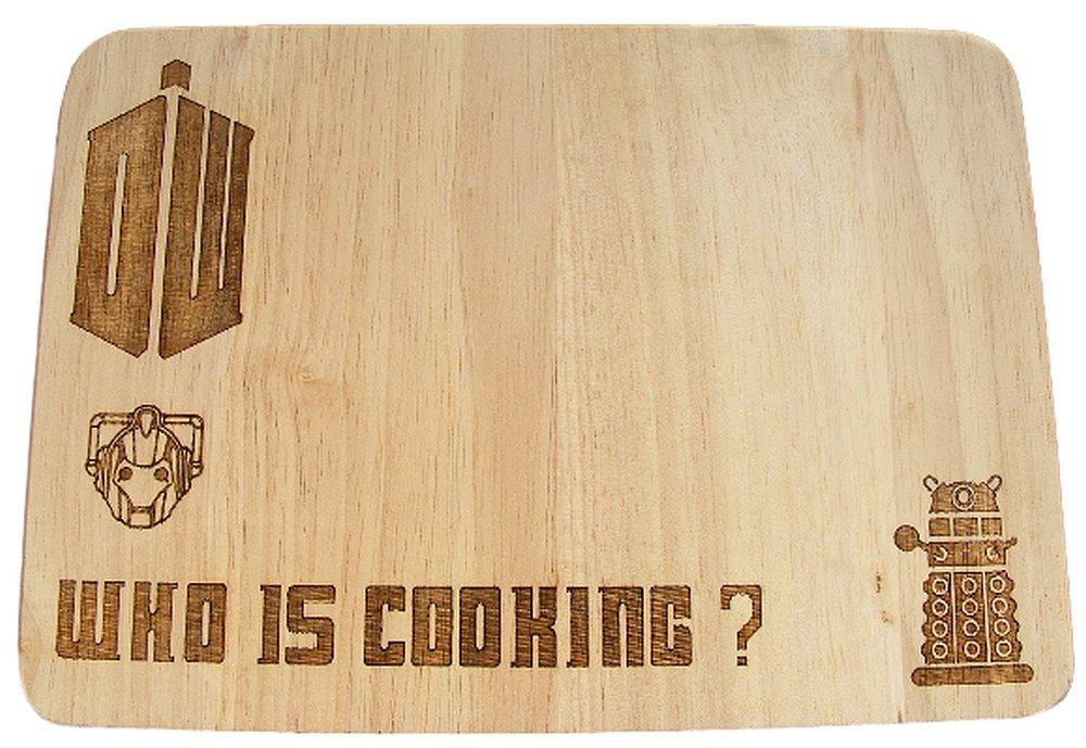 Doctor Who Dalek Tardis d/écouper Planche /à fromage de table 24x17x1.5cm