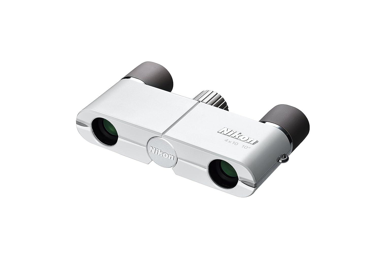 Nikon 双眼鏡 遊 4X10D CF ダハプリズム式 4倍10口径 ホワイト 4X10DCF 4X10DWH (日本製) B00PLMCSFM ホワイト ホワイト