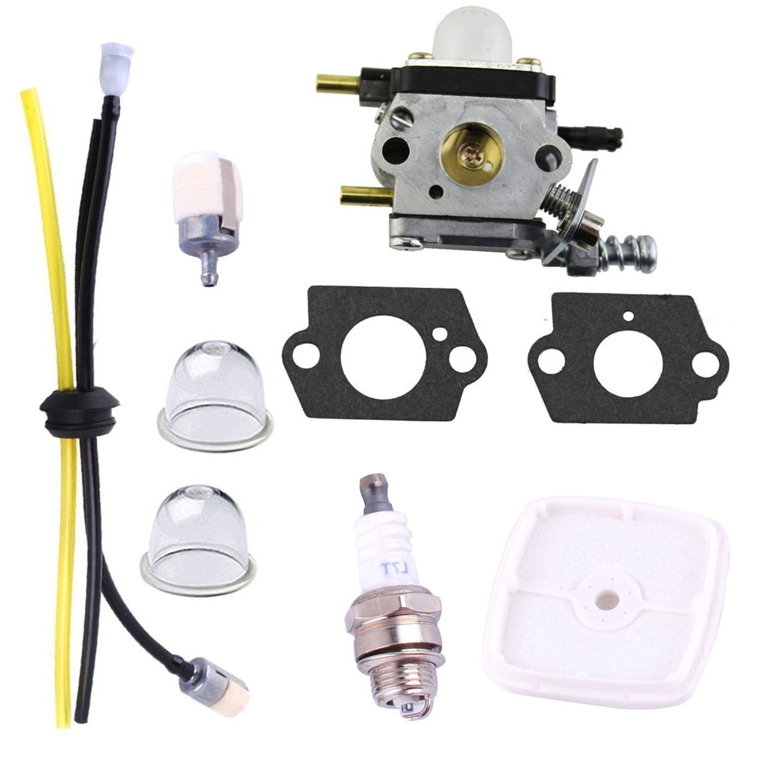 Tri-better C1U-K82 C1U-K54A Carburetor with Air Filter Repower Kit for Mantis Tiller Parts 7222 7225 7222M 7234 7240 7920 7924 Tiller/Cultivator Carb
