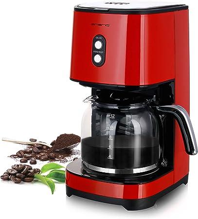 Emerio CME-121593.1 Cafetera de Goteo Automática, Americana, con Filtro, 1.5 litros, 900W, 900 W, Cristal, Rojo: Amazon.es: Hogar