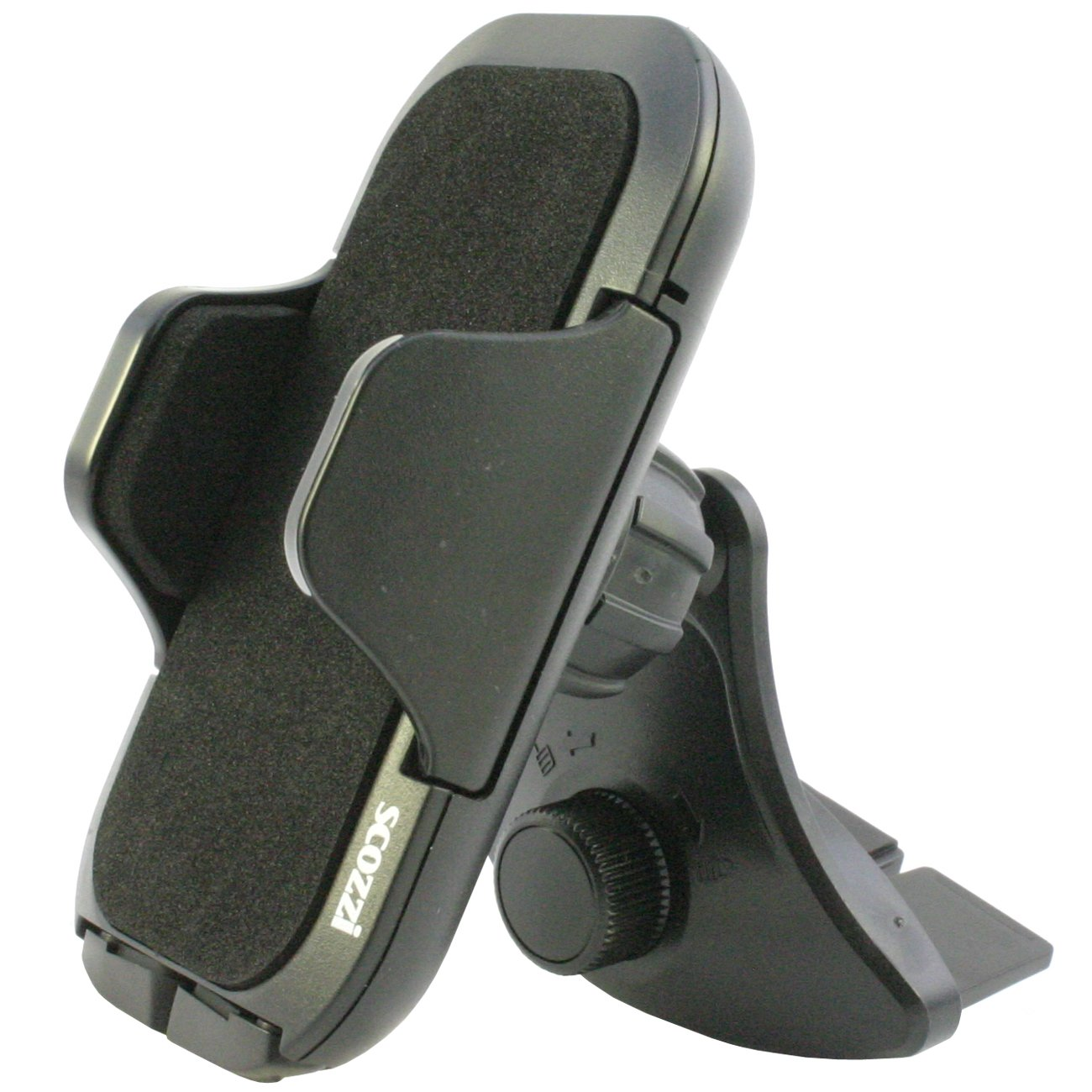 Soporte Coche Ranura CD scozzi 360° Universal Para Móvil Teléfono Smartphone Compartimiento Negro (Modelo: CD mod:4) (am11) DeineHuelle CD Slot Mod 4