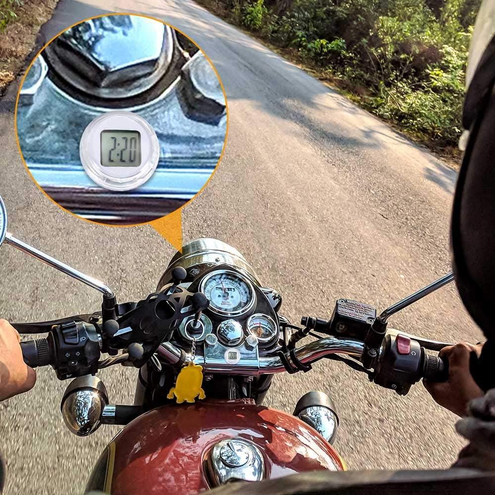- SOOTOP Horloge de Moto Dia. 1,1 Mini Montre adh/ésive /étanche /à Coller Montre de Moto Horloge Horloge num/érique de Voiture de Moto - Jusqu/à 1 an dautonomie