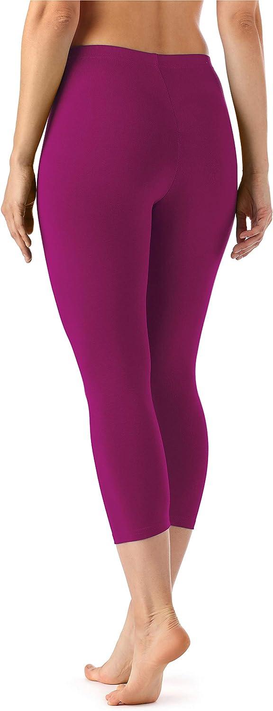 Merry Style Leggings 3//4 Pantaloni Capri Donna MS10-144
