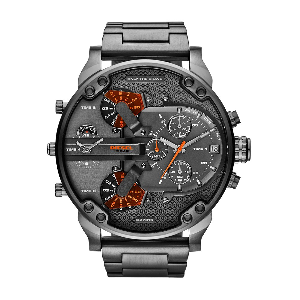 bfb4c31f31c5 Amazon.com  Diesel Men s Mr Daddy 2.0 Quartz Stainless Steel Chronograph  Watch