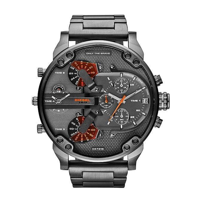 380da5fb9658 Amazon.com  Diesel Men s Mr Daddy 2.0 Quartz Stainless Steel Chronograph  Watch