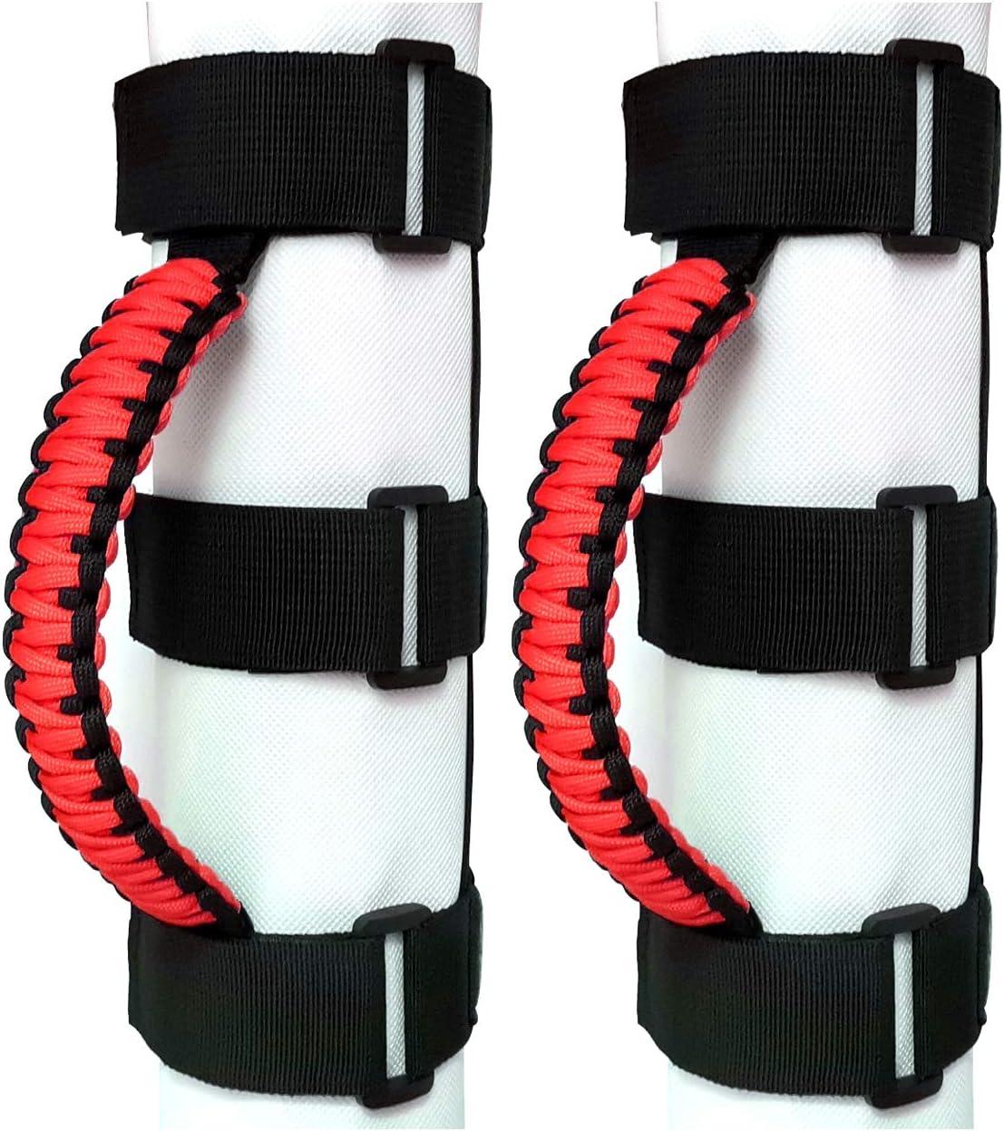 Black//Olive BBUP 2 x Roll Bar Grab Handles Grip Handle for Jeep Wrangler YJ TJ JK JKU JL JLU Sahara Rubicon X Sports Freedom /& Unlimited 1987-2020