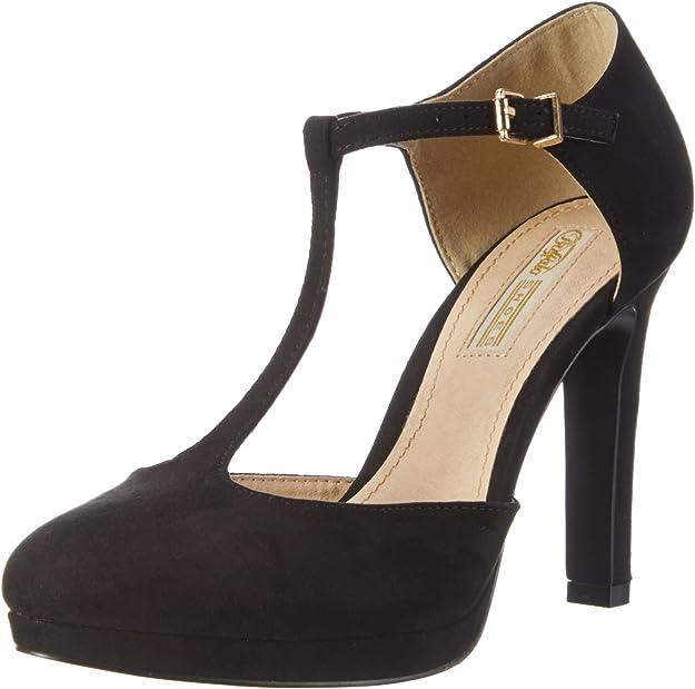 Buffalo H748a-3, Zapatos con Tacon y Correa de Tobillo para Mujer