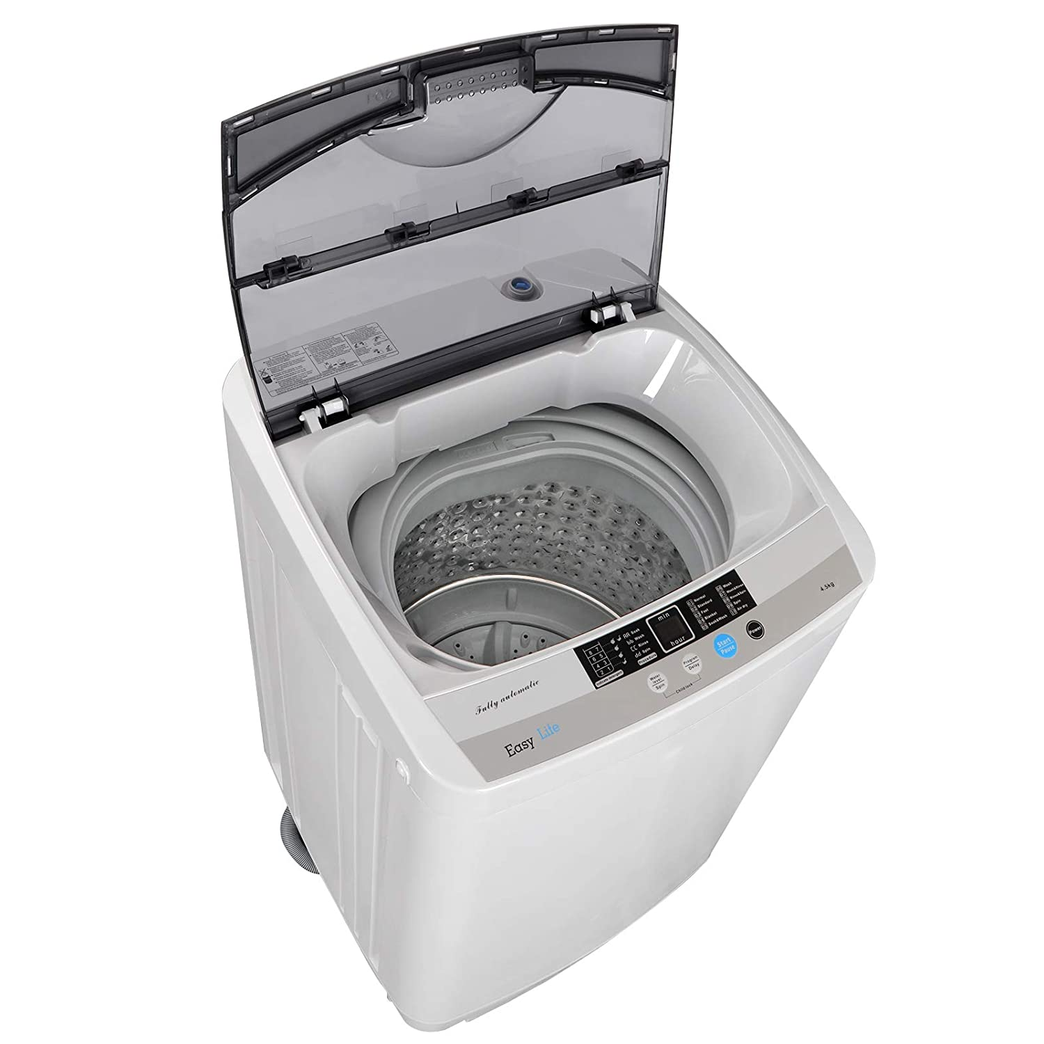 ZENY Powerful Motor Full-automatic Mini Washing Machine Laundry Washer Dryer 1.6 cu ft 8 Waterlevel w/Built-in Drain Pump