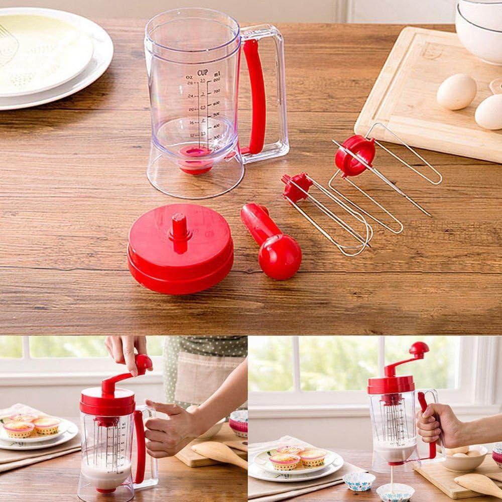 TOOGOO Manual Pancake Machine 800ml//26.7 OZ Cupcake Funnel Batter Dispenser Cream Separator Tool Cake Dough Dispenser