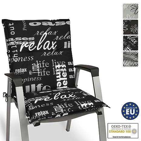 Beautissu Cojín para sillas de Exterior y jardín con ...