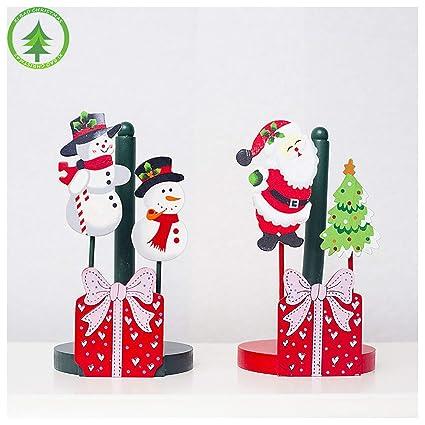 Estante de toalla de Navidad, Creativo Estante de toalla de Navidad Baño Rollo de papel