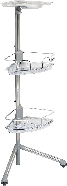 3. OXO Good Grips Stainless Steel Corner Standing Shower Caddy, 3 Feet Tall