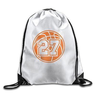 27 Basketball Logo Men's Womens Shoulder Drawstring Bag Drawstring Backpack String Bags School Rucksack Gym Handbag