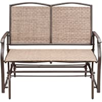 SunLife Outdoor Swing Glider for 2 Person, Patio Loveseat Bench Rocking Chair