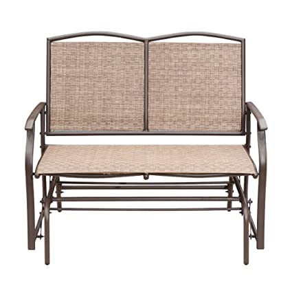 Amazon.com : SunLife Outdoor Swing Glider 2 Person, Patio Furniture  Loveseat Bench Rocking Chair with Brown Rattan Wicker Seatback : Garden &  Outdoor - Amazon.com : SunLife Outdoor Swing Glider 2 Person, Patio Furniture