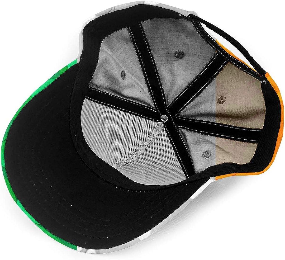 Irish Flag with Shamrocks Unisex Baseball Cap Classic Adjustable Plain Cap