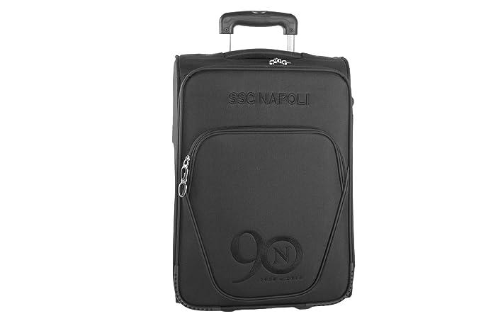 Maleta semirrígida SSC NAPOLI negro equipaje de mano cabina ryanair VS71: Amazon.es: Ropa y accesorios
