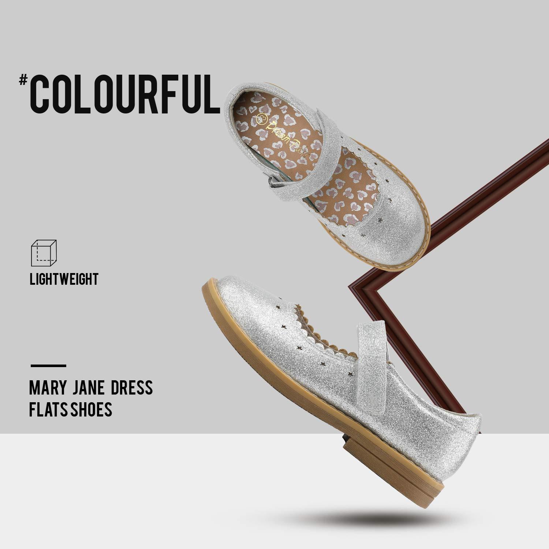 DREAM PAIRS Girls Ballerina Flats Mary Jane Dress Shoes