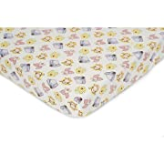 Disney Baby Peeking Pooh Cartoon Nursery Crib Sheet Multi