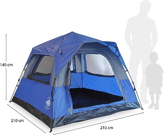 /étanche Robuste Petit Format Lumaland Where Tomorrown Tente compacte pour 2 Personnes Tente Pop Up Tente de Trekking Festival de Camping 245x160x95 cm Ultra-l/ég/ère