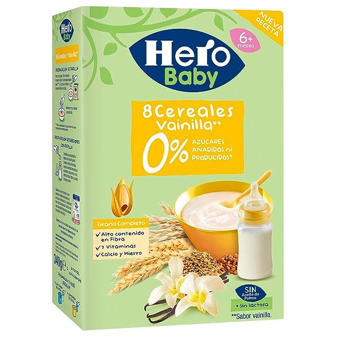 Hero Baby Papilla de cereales 340gr: Amazon.es: Alimentación y bebidas