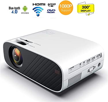 1080P HD mini proyector portátil, 10000 lumen video proyector LED ...