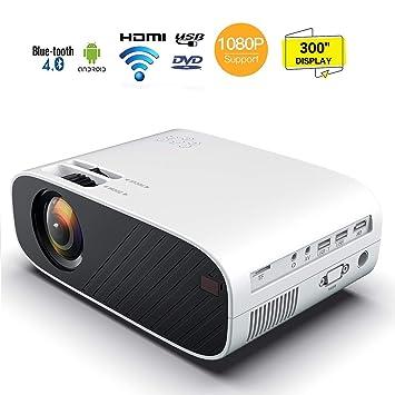 1080P HD mini proyector portátil, 10000 lumen video proyector LED ...