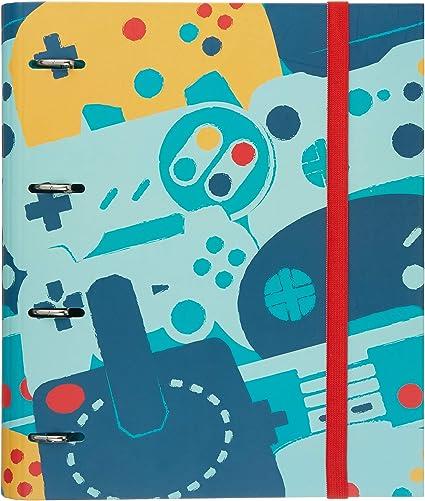 Oferta amazon: Grupo Erik Carpeta 4 anillas troquelada premium Gamer nueva colección