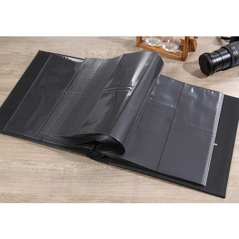 Photo Album for 600 4x6 Photos Leather Cover Extra Large Capacity for Family Wedding Anniversary Baby Vacation (Black) by Vienrose (Image #7)