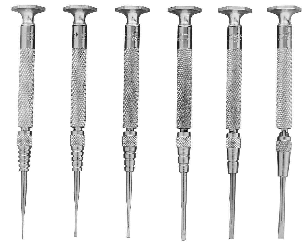 General Tools /& Instruments SPC600 Jewelers Screwdriver Set