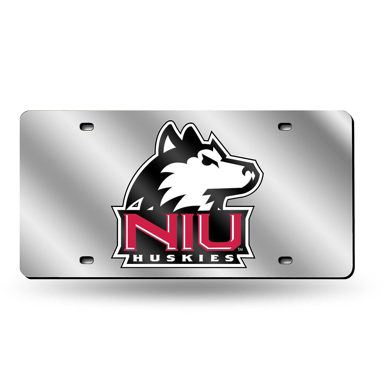 LZS400701 Silver Rico Industries Inc NCAA Northern Illinois Huskies Laser Inlaid Metal License Plate Tag