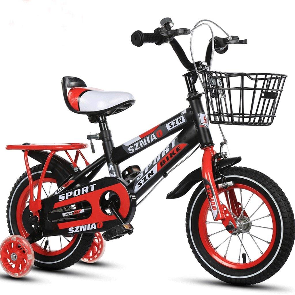 DGF 子供男性と女性のベビーカーの学生車12/14/16/18/children自転車2-10歳 (色 : 赤, サイズ さいず : 12インチ) B07F1BWRLL 12インチ|赤 赤 12インチ