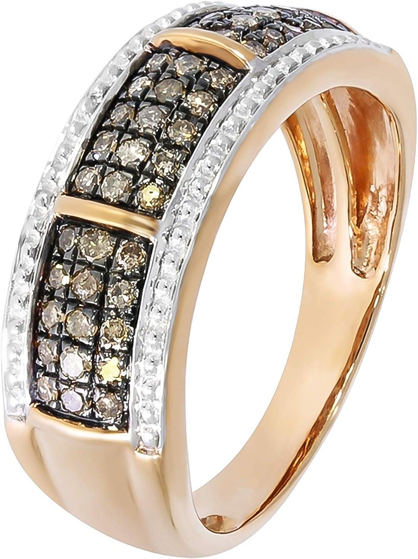 Goldenstar 0.10Ct Round Brilliant Cut White Diamond Fancy Pendant 14k Gold