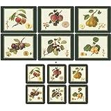 Pimpernel Hooker frutas, 6manteles individuales + 6posavasos