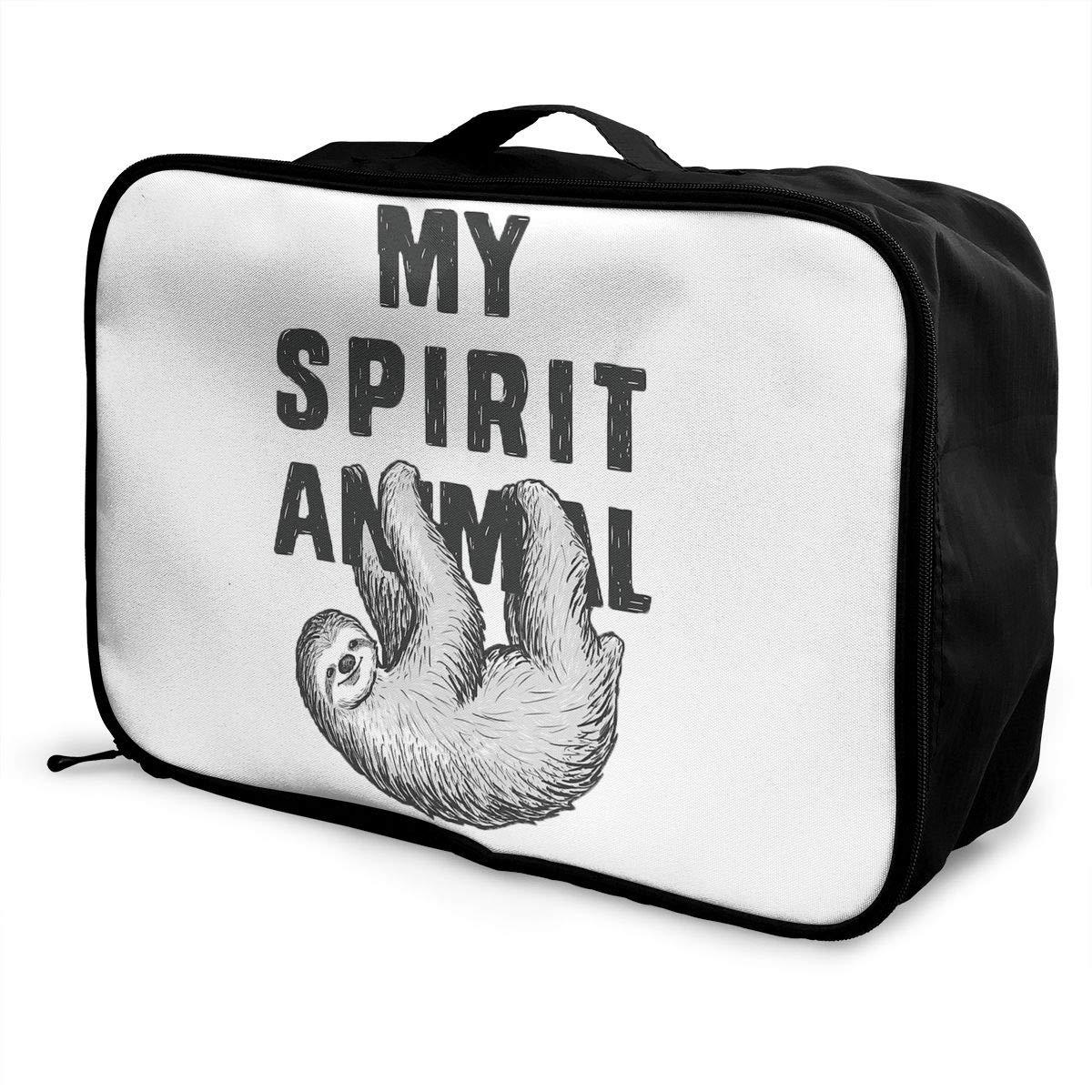 YueLJB My Spirit Animal Sloth Lightweight Large Capacity Portable Luggage Bag Travel Duffel Bag Storage Carry Luggage Duffle Tote Bag