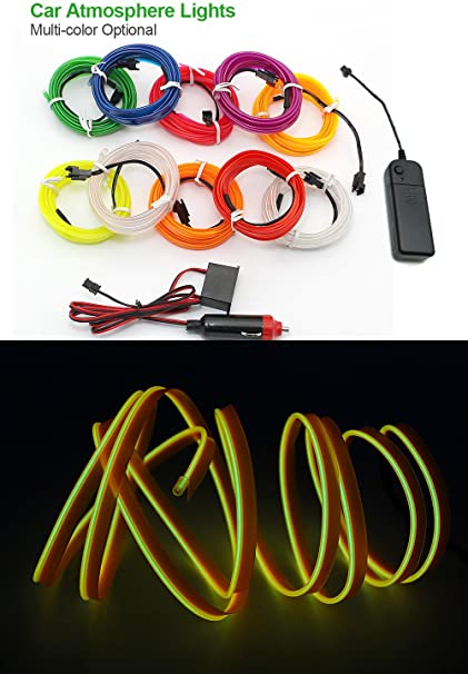 2017 Newest Flexible Led Strip 10 Colors 2.3mm-skirt El Wire Rope Without El Controller,neon Light For Car Internal Decor Led Lighting