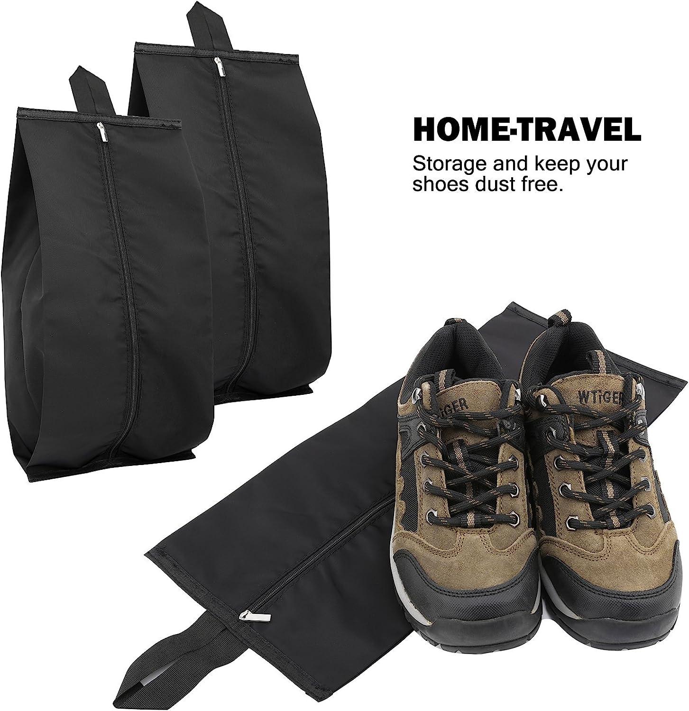 Luxspire Portable Travel Shoe Bags Storage Case with Zipper Closure 15.5 Inch Black