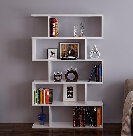 VOLANS Libreria - Bianco ( lucido) - Scaffale per libri - Scaffale ...