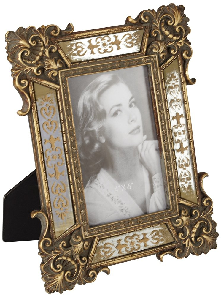 Antique Picture Frames Part - 33: Amazon.com - Florentine Antique Gold Mirror 4x6 Photo Frame - Single Frames