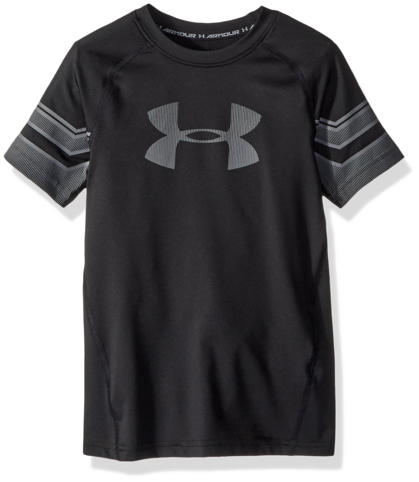 Under Armour Boys Graphic Short sleeve, Black/Graphite, Youth Large