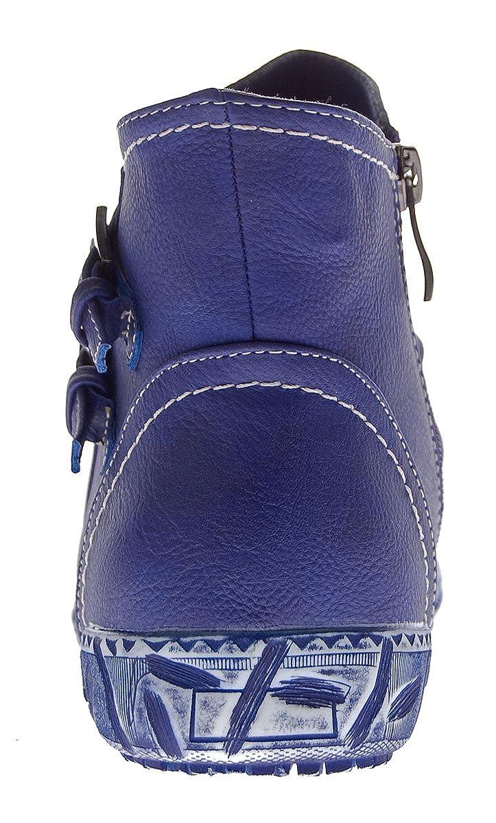 Scandi Damen Stiefeletten Schwarz Blau Violett Violett Blau Schuhe Winter Stiefel Knöchelschuhe Gefüttert Schnallen Blau Violett e3383e