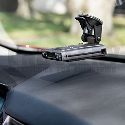 Car Radar Mount, Crossery Windshield & Dashboard Radar Detector Suction Mount for Escort Passport,