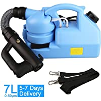 7L Portable Fogger Machine - Electric Mist Duster - Ultra Low Capacity 110V Aerosol Sprayer Atomizer - Large Area Disinfection Machine with Adjustable Particle Size 0-50μm/Mm for Indoor & Outdoor