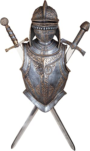 Design Toscano Nunsmere Hall 16th Century Battle Armor Medieval Wall Sculpture
