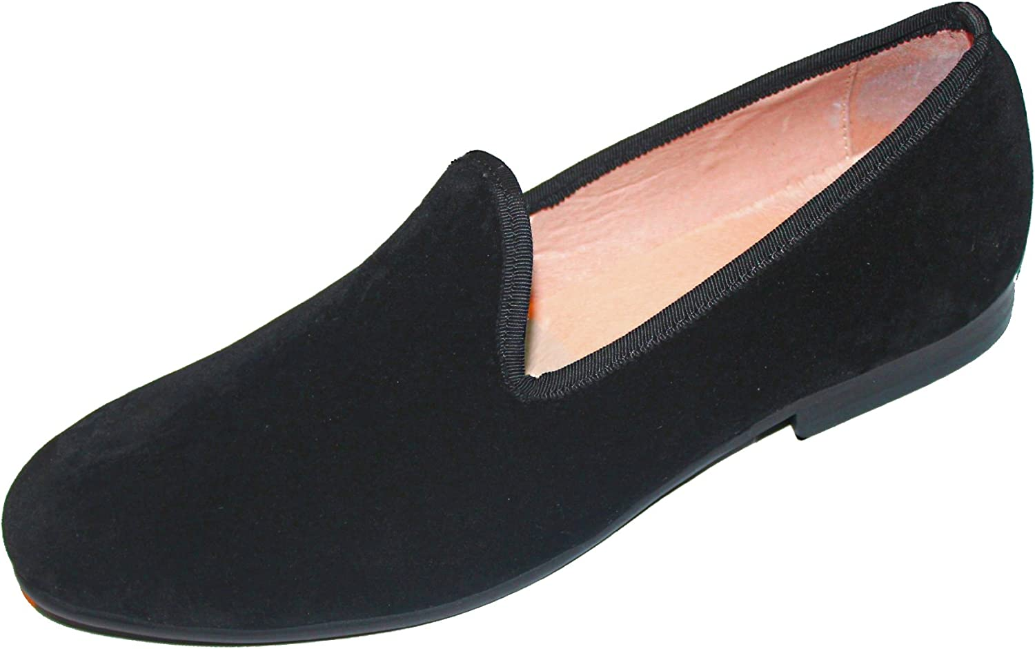 black velour loafers