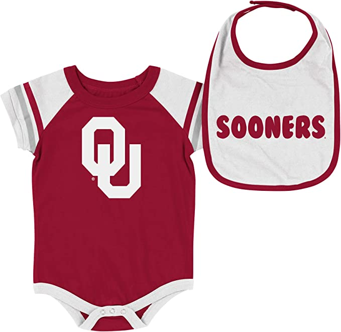 Colosseum Infant NCAA Louisville Cardinals Roll-Out Bodysuit and Bib Set