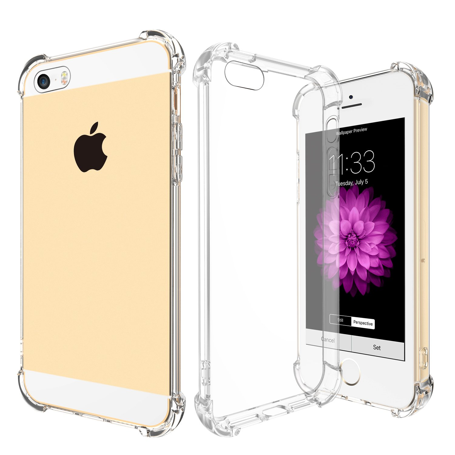 Iphone Se Clear Case Ranvoo Transparent Scratch Resistant Back Panel + Thicke.. 14