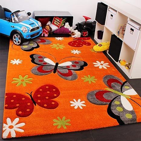 Phc Tappeto Per Camera Dei Bambini Motivo Farfalle Colore