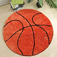 Fancytan Kids tapijt basketbal rond tapijt tapijt vloer stoel mat voor kinderen kamers kinderen slaapkamer (basketbal…